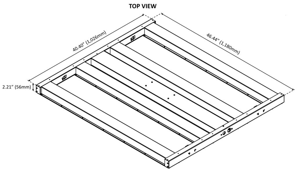 BLI PerfectPar 650W LED Dimensional Drawing
