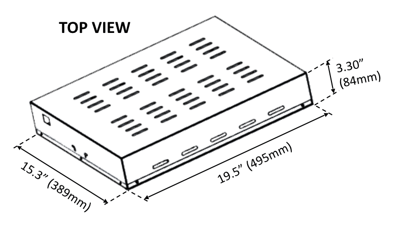 Slimline 315W CDL Agro Design Drawing